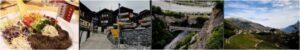 sonniges bergdorf wallis